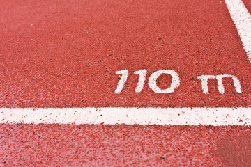 Running Track at 110 metric