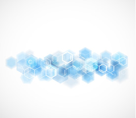 chemical and molecular concept template background, Vector