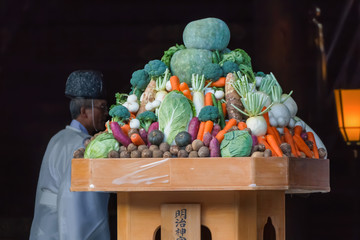 Fruits and vegetable at A Japanese Wedding Ceremony