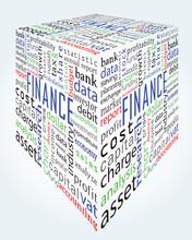W tle - słowa finansów i rachunkowości