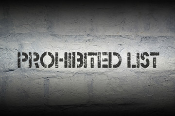 prohibited list