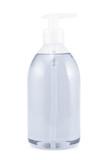 Plastic bottle of liquid soap isolated