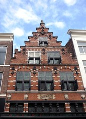 dutch historical house with stepgable,