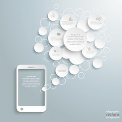 Smartphone With Speechbubble Circles