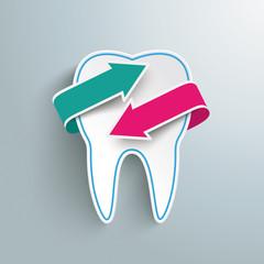 Tooth 2 Arrows Symbol