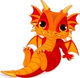 Cute baby dragon