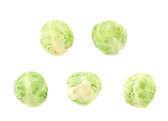 Set of five brussels sprouts