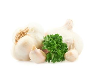 Garlic with a parsley beam