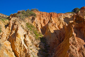 Erosion near the coast of the Algarve, Portugal
