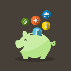 Energy Saving with Piggy Bank