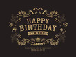 Birthday card design template - 64896948