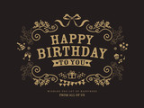 Fototapety Birthday card design template