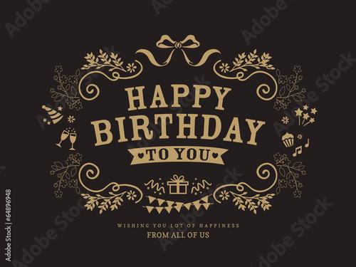Birthday card design template - 64896948
