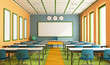 Leinwanddruck Bild - Contemporary classroom