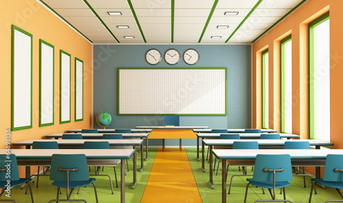 Leinwanddruck Bild Contemporary classroom