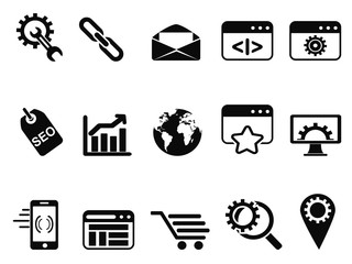 SEO Services icons set