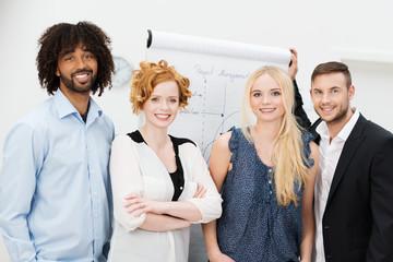 junge geschäftsleute in einem management-seminar