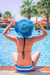 Summer holidays at the swimming pool