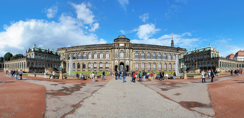 Panorama of the Zwinger Palace in Dresden, Germany