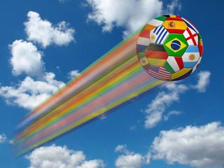 Fußball in Landesfarben der Nationalmannschaften