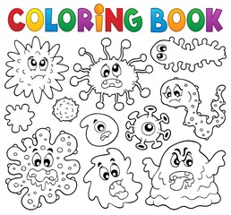 Coloring book germs theme 1