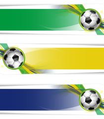 Set banner calcio Brasile