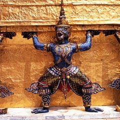 Demon statue, Grand Palace, Bangkok © Arena Photo UK