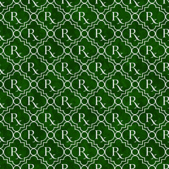 Green and White Prescription symbol Pattern Repeat Background
