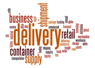 Delivery word cloud