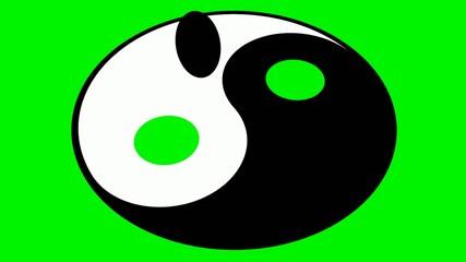 Rotating yin yang symbol