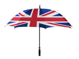 Business concept: umbrella of Flag from England