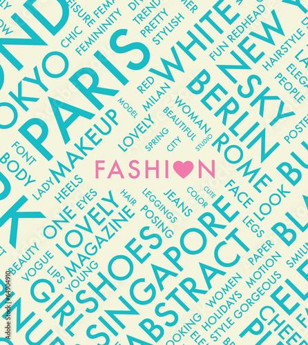 【掛け時計】ファッション タイポグラフィ