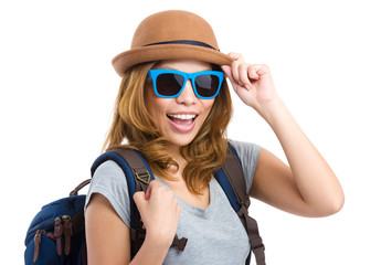 Backpacker with sunglasses