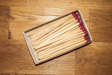 Matches on Wood