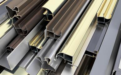 Many aluminum profiles.