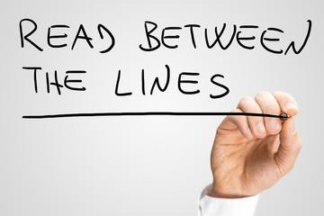 Read between the lines