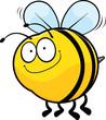 Obrazy na płótnie, fototapety, zdjęcia, fotoobrazy drukowane : Smiling Cartoon Bee