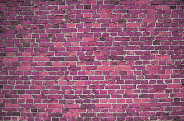 Pink / cerise brick wall (background, wallpaper, bricks)