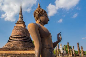 Buddha statue at Sukhothai, Thailand