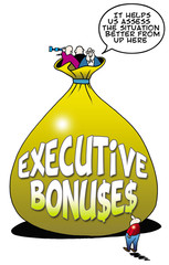 "Executive Bonuses:  ""It helps us assess... better from up here."""