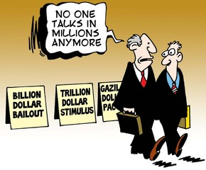 """No one talks in millions anymore."""