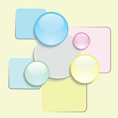 abstract glass icons