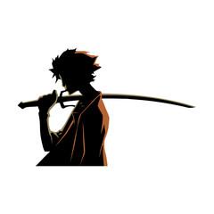 samurai sword silhouette style mango