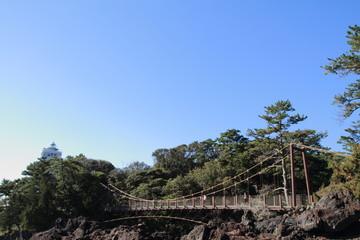 城ヶ崎海岸の門脇吊橋
