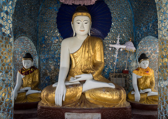Buddha Statue at  Shwedagon, Yangon