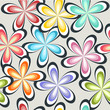 Cute colorful spring flower pattern seamless background