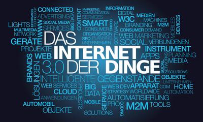 Das Internet der Dinge verbundenen Objekte Tag Cloud Tex