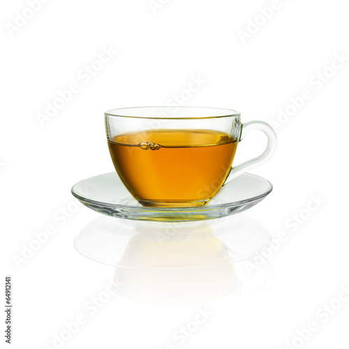 canvas print picture Teecup with bubbles