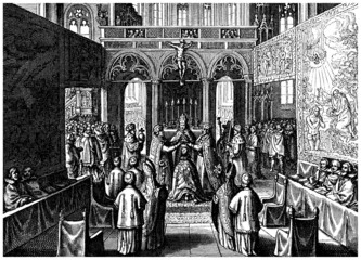 Ceremony : Crowning a King - begining 17th century