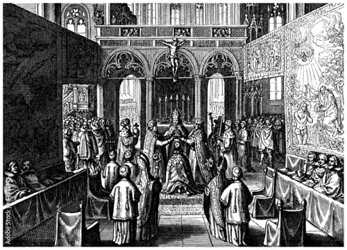 Ceremony : Crowning a King - begining 17th century - 64913142